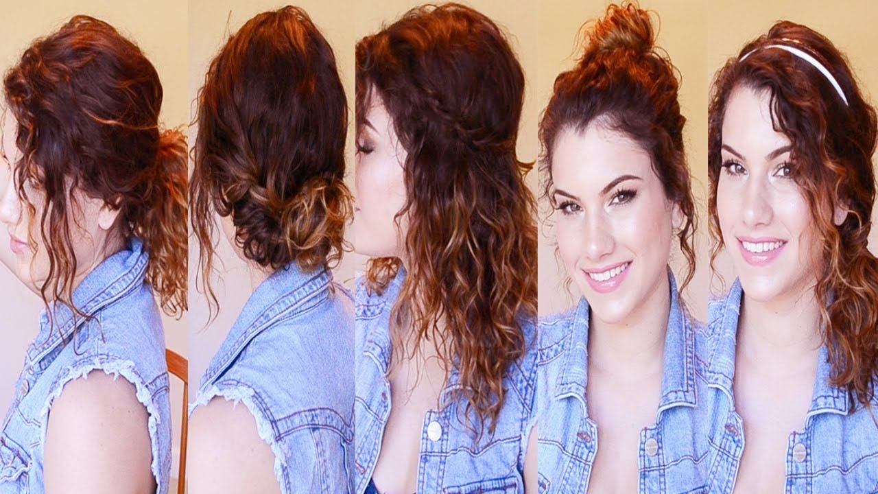 Hairstyles for curly hair for school pinterest curly hairstyles