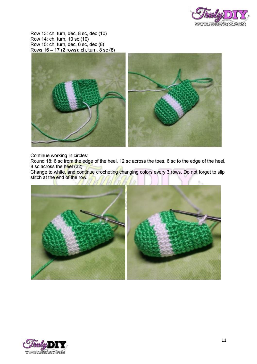 Bb 5 em màu dâu tây strawberry shortcake eng | Zapatitos crochet y ...