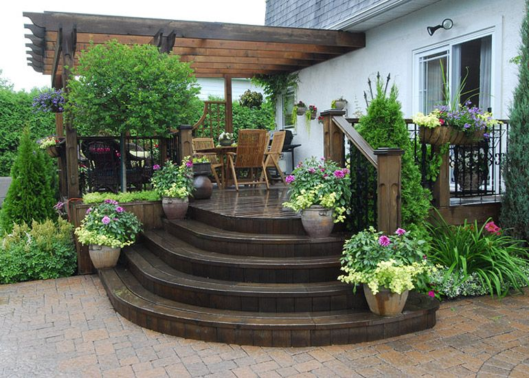 Am nagement paysager r sidentiel terrasse ext rieure jardins pinterest - Photo amenagement paysager exterieur ...