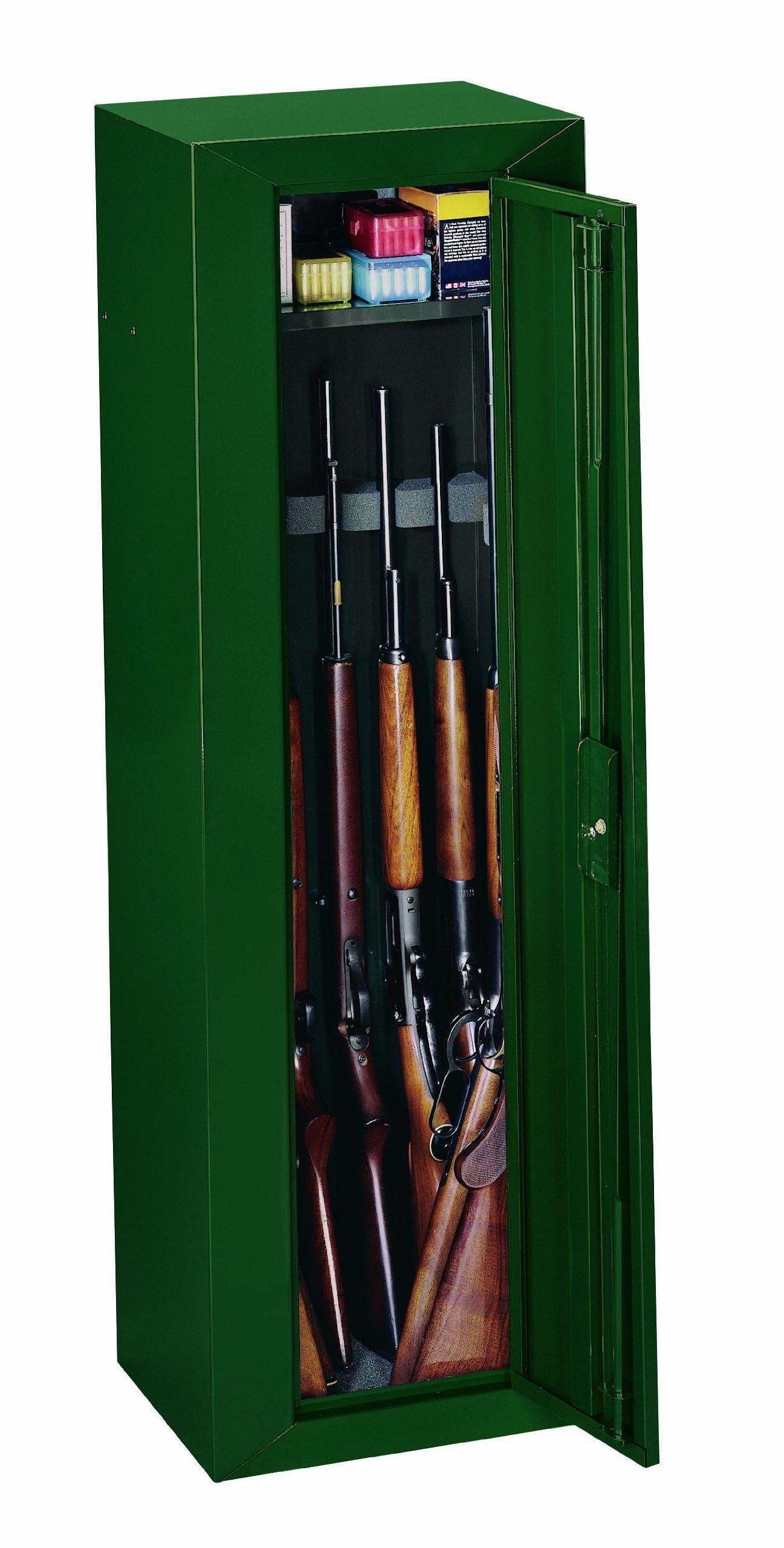 Gun Security Cabinet >> Amazon Com Stack On Gcg 910 Ds Steel 10 Gun Security Cabinet Green
