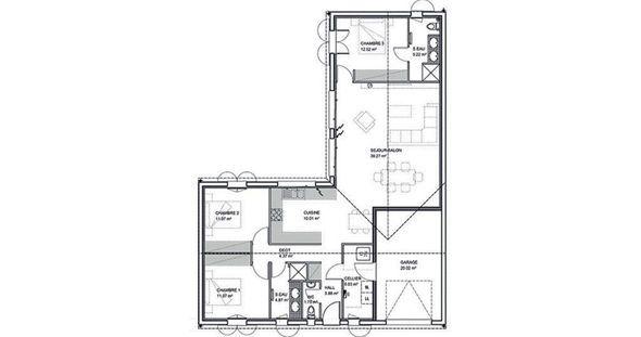 Plan De Notre Maison En L De PP 110m2   100 Messages   Page 3 | Plan Maison  | Pinterest | Plans Maison, Plans Et Plans De Maison