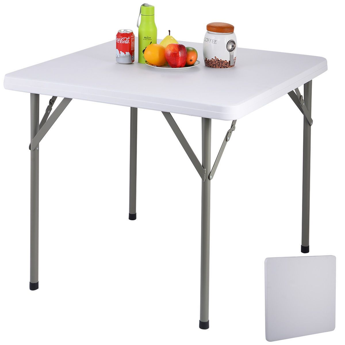 Buy Mainstays Fold In Half Table Plastic Outdoor Black At Online Store