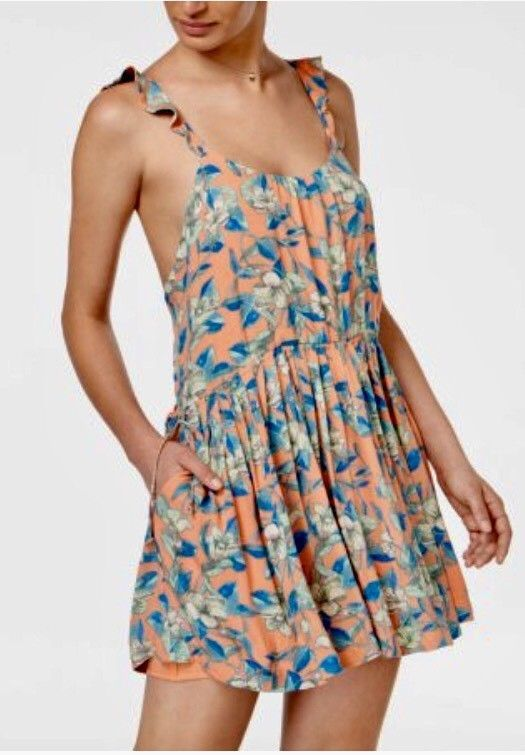 1089dfd5ca6 FREE PEOPLE Dear You Mini Dress in Orange Combo Size X-Small  98.00 NWT  OB574950  FreePeople  Blouson  Casual