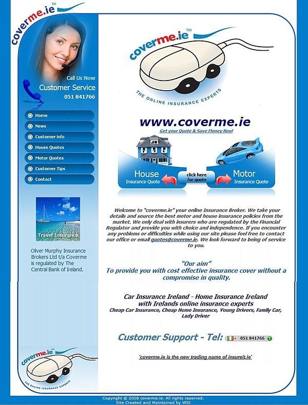 Www Coverme Ie Online Insurance Success Online Website Design