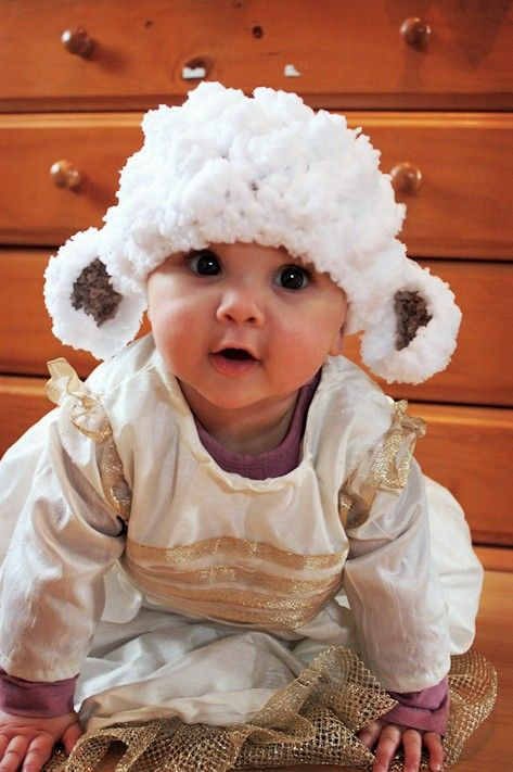 aaad016805b Baby Hat Preemie Newborn Lamb Sheep Farm Animal Beanie Baby Shower Gift  Crochet White Brown Preemie Baby Hat Infant Photo Prop on Etsy