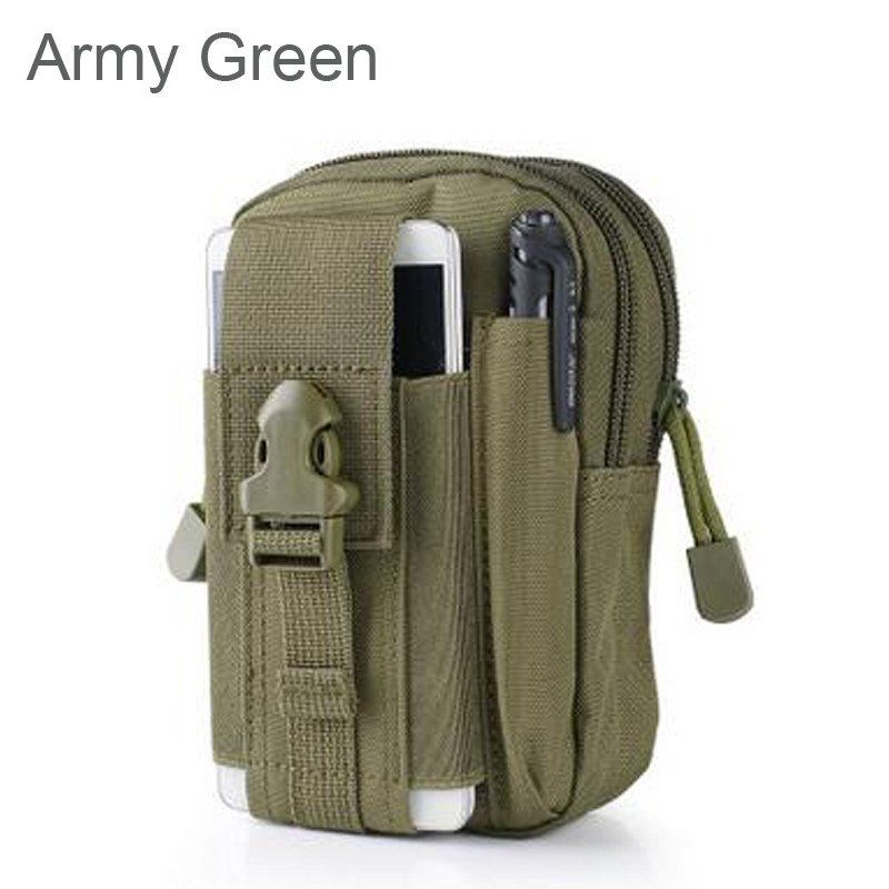 Outdoor Waterproof Tactical Waist Belt Bag Pack Pouch Cell Phone Pocket Case Bag
