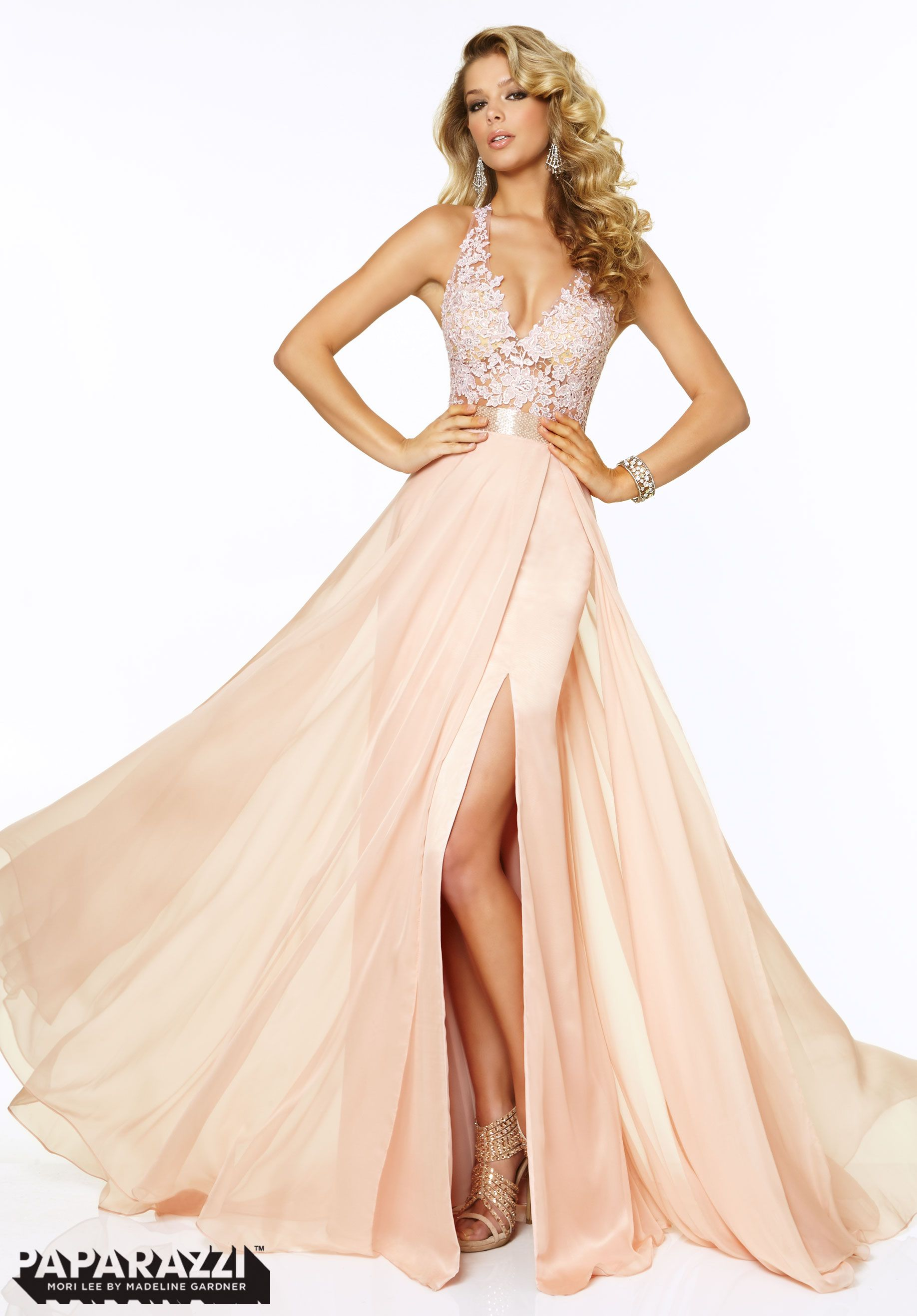Prom dresses gowns style lace and chiffon with beading