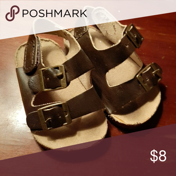 Brown Sandals Birkenstock Style Baby Sandals Gender Neutral Old Navy Shoes Baby Walker With Images Brown Sandals Sandals Navy Shoes