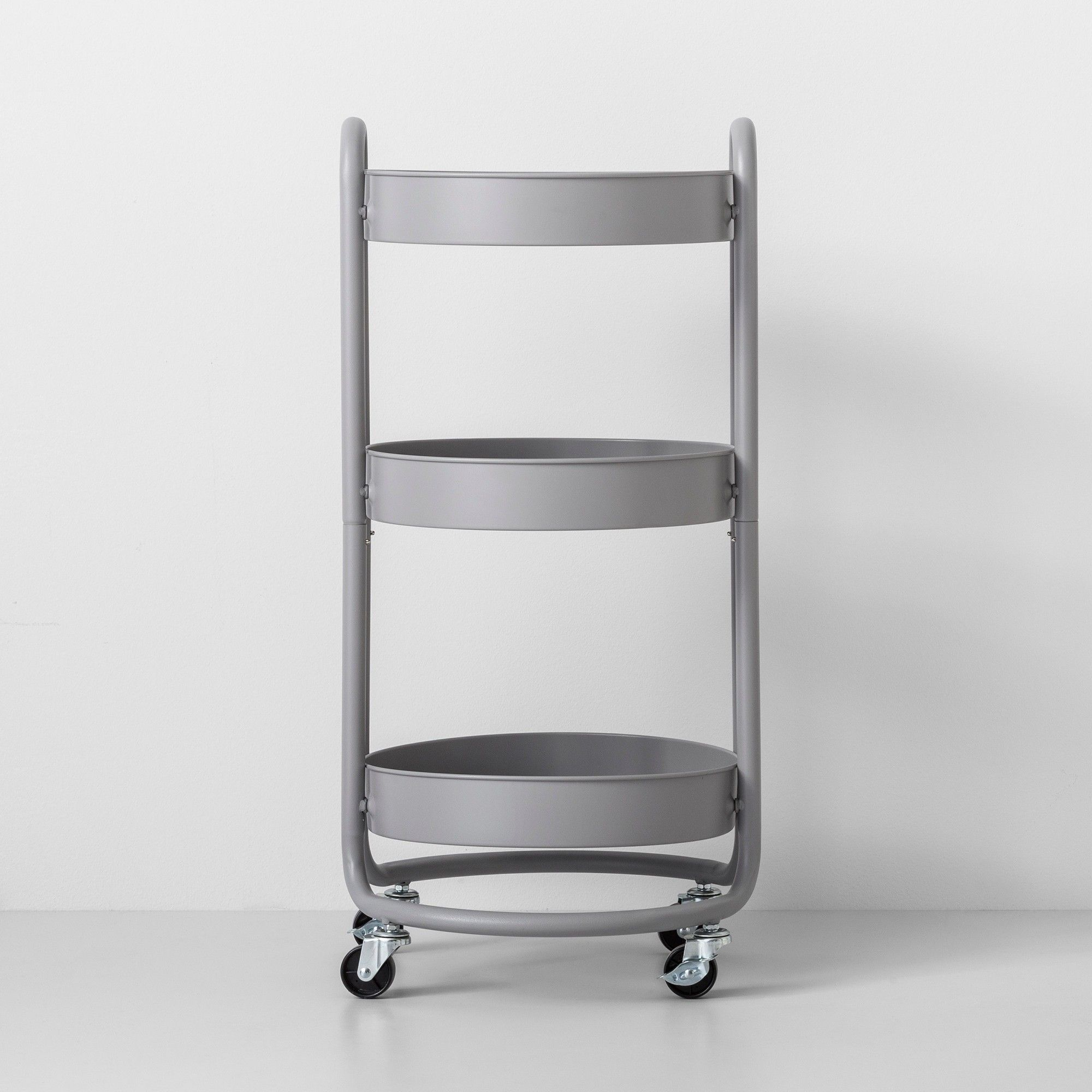 Round Metal Utility Cart Gray Made By Design In 2020 Pot Storage Utility Cart Made By Design