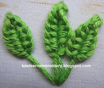 Let's learn embroidery: Buttonhole knot flower-pointed tip