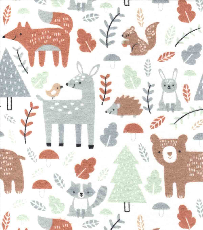 deer fabric fall fabric knit fabric cotton fabric crib sheet woodland animal  floral fabric woodland Woodland fabric bear fabric