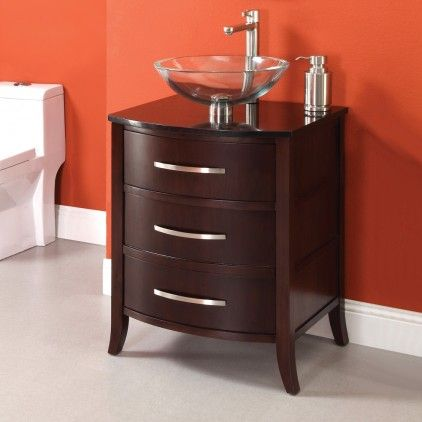 24 Inch Contemporary Bathroom Vanity Solid Wood With Images