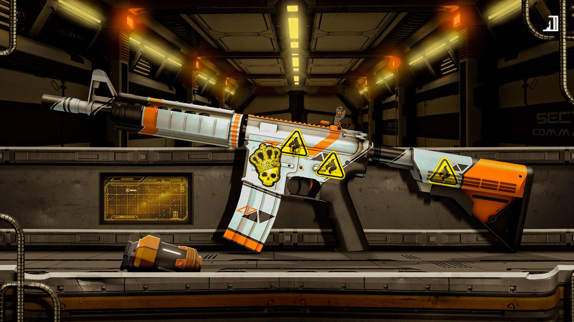 Csgo Weapon Skin Wallpapers On Behance Papel De Parede Games Armas Airsoft Papeis De Parede