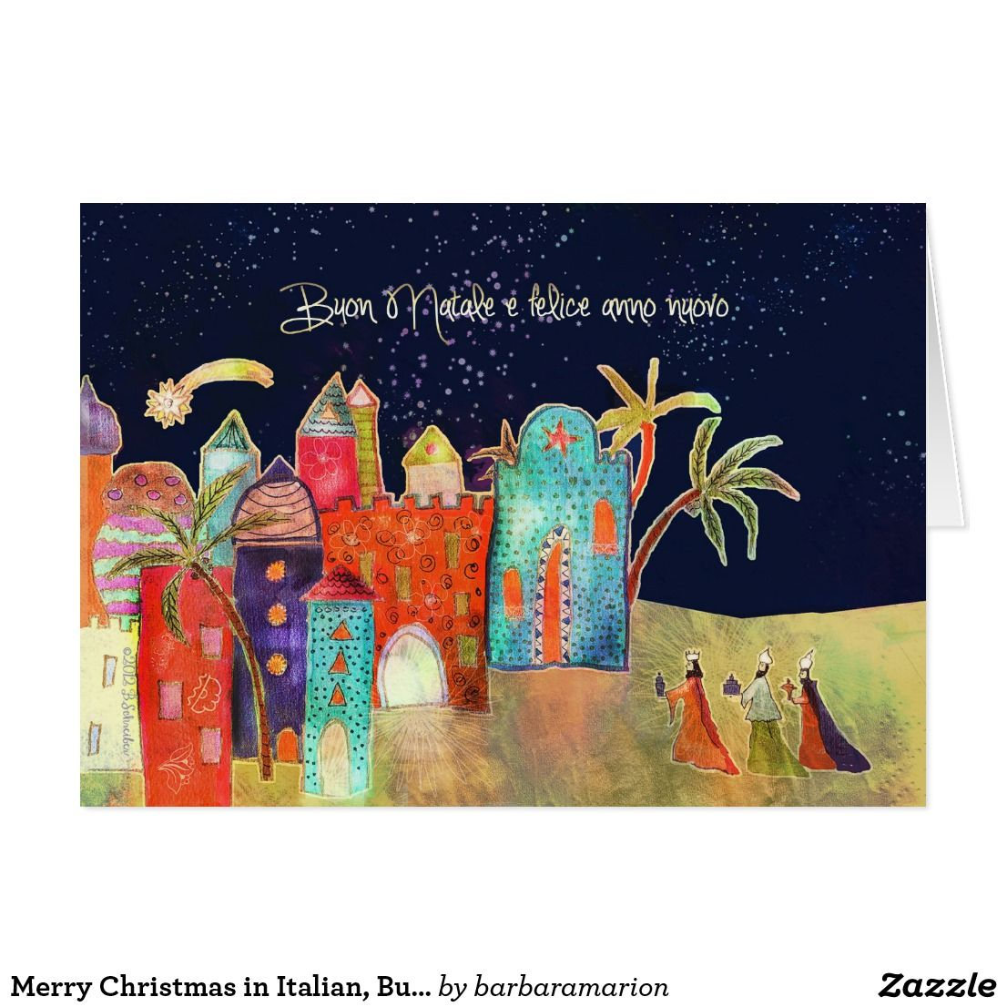 Merry christmas in italian buon natale card italian christmas merry christmas in italian buon natale card kristyandbryce Images