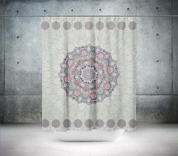 Mandala Shower Curtain,Boho Shower Curtain,Boho Decor,Hippie Shower Curtain ,Bohemian