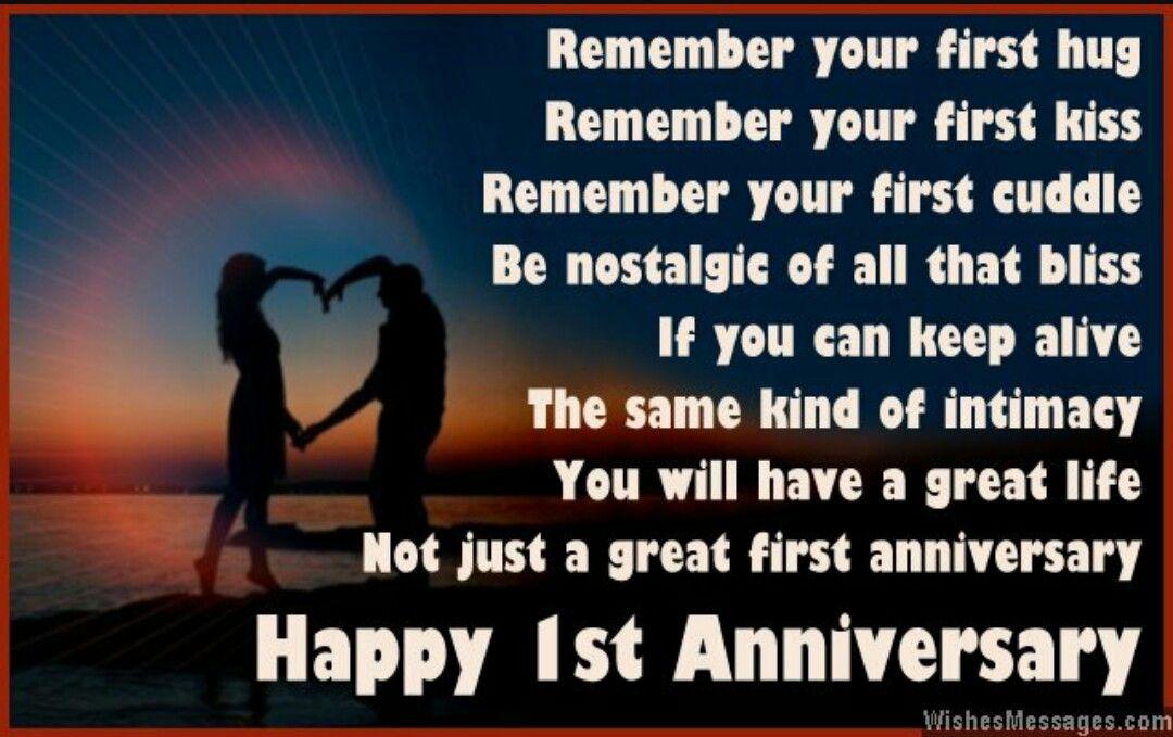 Happy 1st Anniversary Anniversary Quotes Anniversary Poems Happy Anniversary Quotes