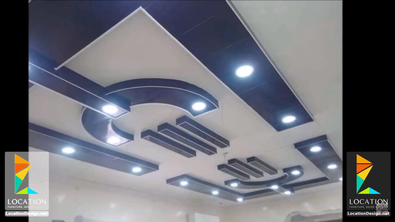 ديكورات جبس اسقف راقيه 2018 تصميمات جبسيه للشقق المودرن لوكشين ديزين نت House Ceiling Design Pop Ceiling Design Ceiling Design Living Room