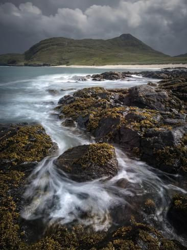 Photographic Print: Swirling Tide and Beinn Chliaid, Isle of Barra, Outer Hebrides by Stewart Smith : 24x18in #outerhebrides Photographic Print: Swirling Tide and Beinn Chliaid, Isle of Barra, Outer Hebrides by Stewart Smith : 24x18in #outerhebrides