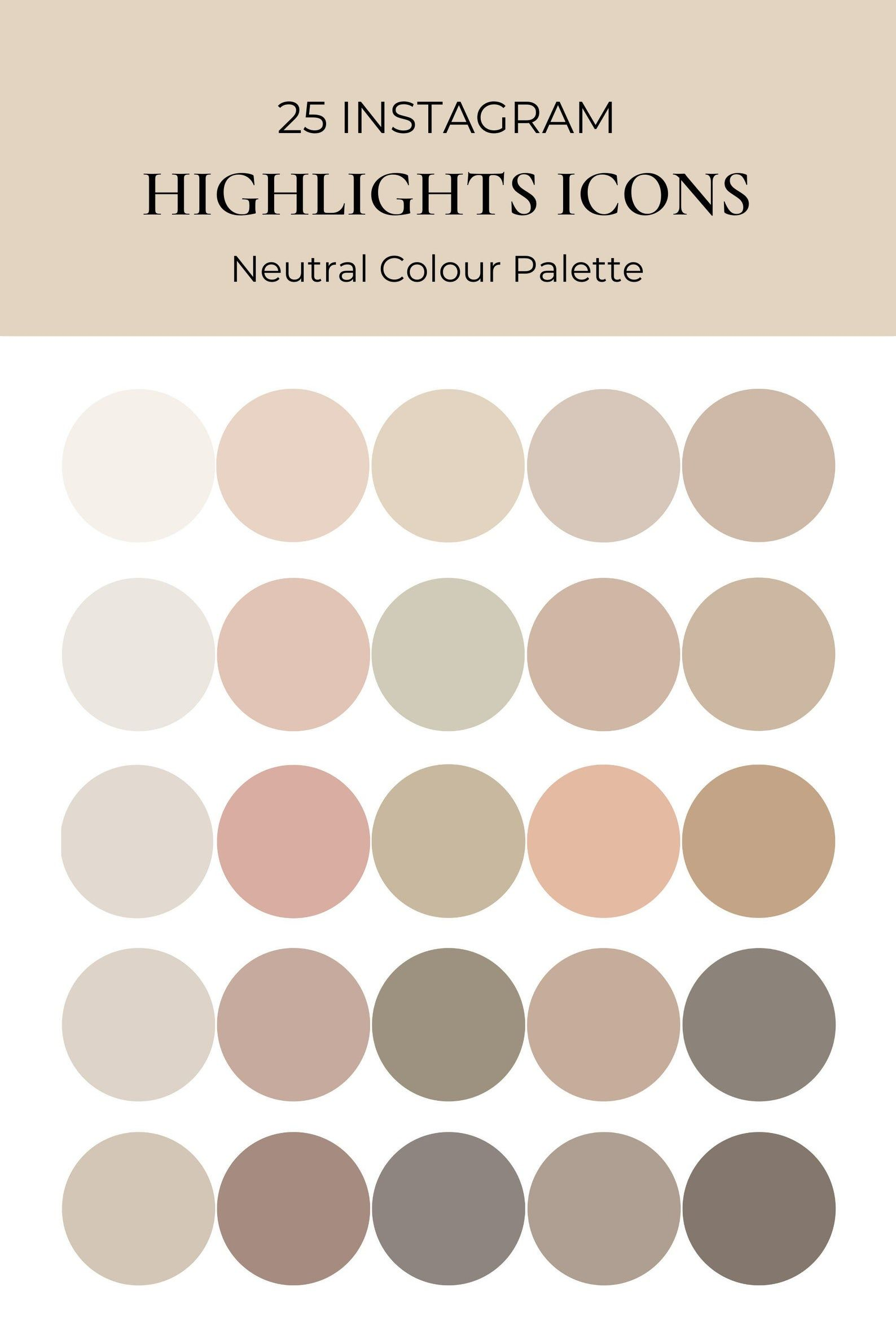 Warm neutral colour highlight cover | Boho nude colour tone Instagram icon | Solid colour blogger influencer highlight | 25 Nude story cover