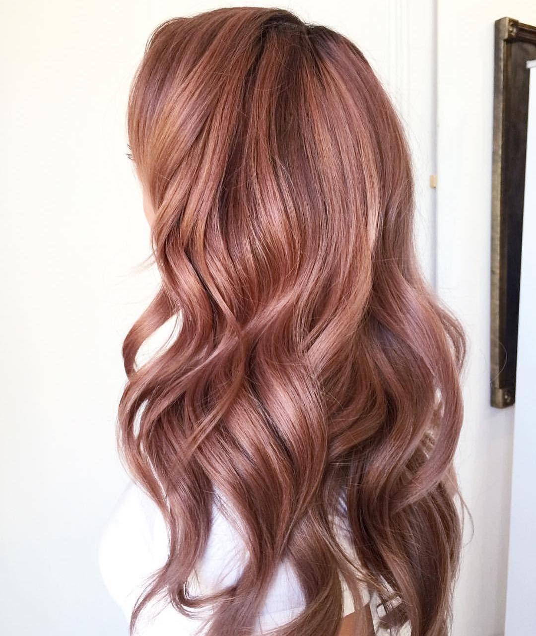 light rose gold haircolor 2017 | hair color ideas | pinterest