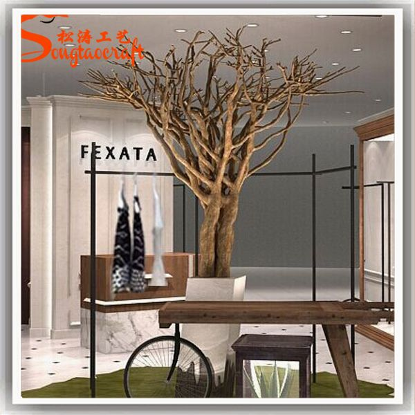 9 Ft Plastic Dry Tree Branch Artificial Dry Tree Without Leaves