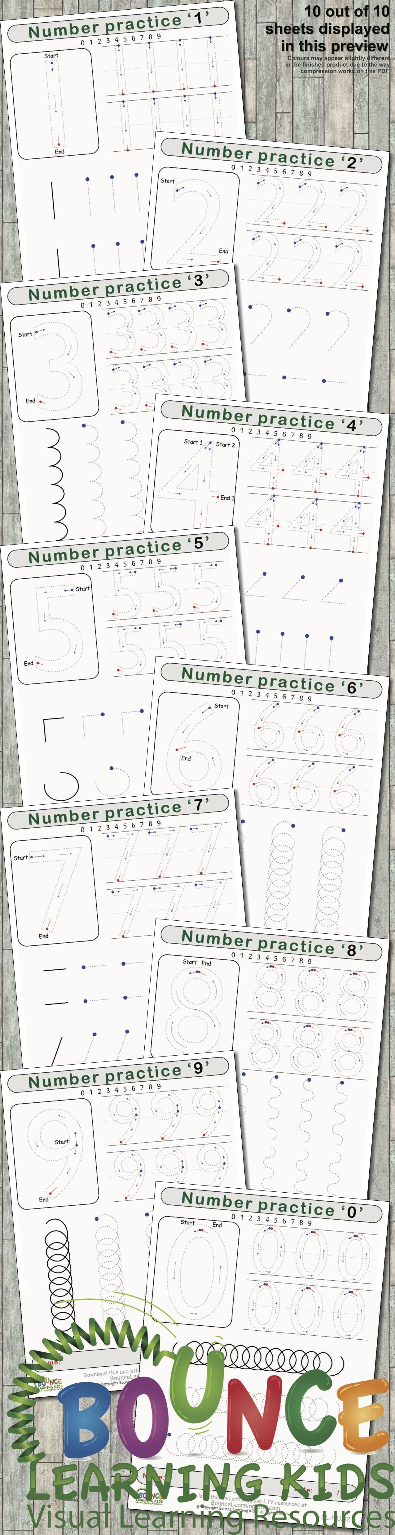 Writing Numbers 10 Distance Learning Literacy Amp Hand Eye