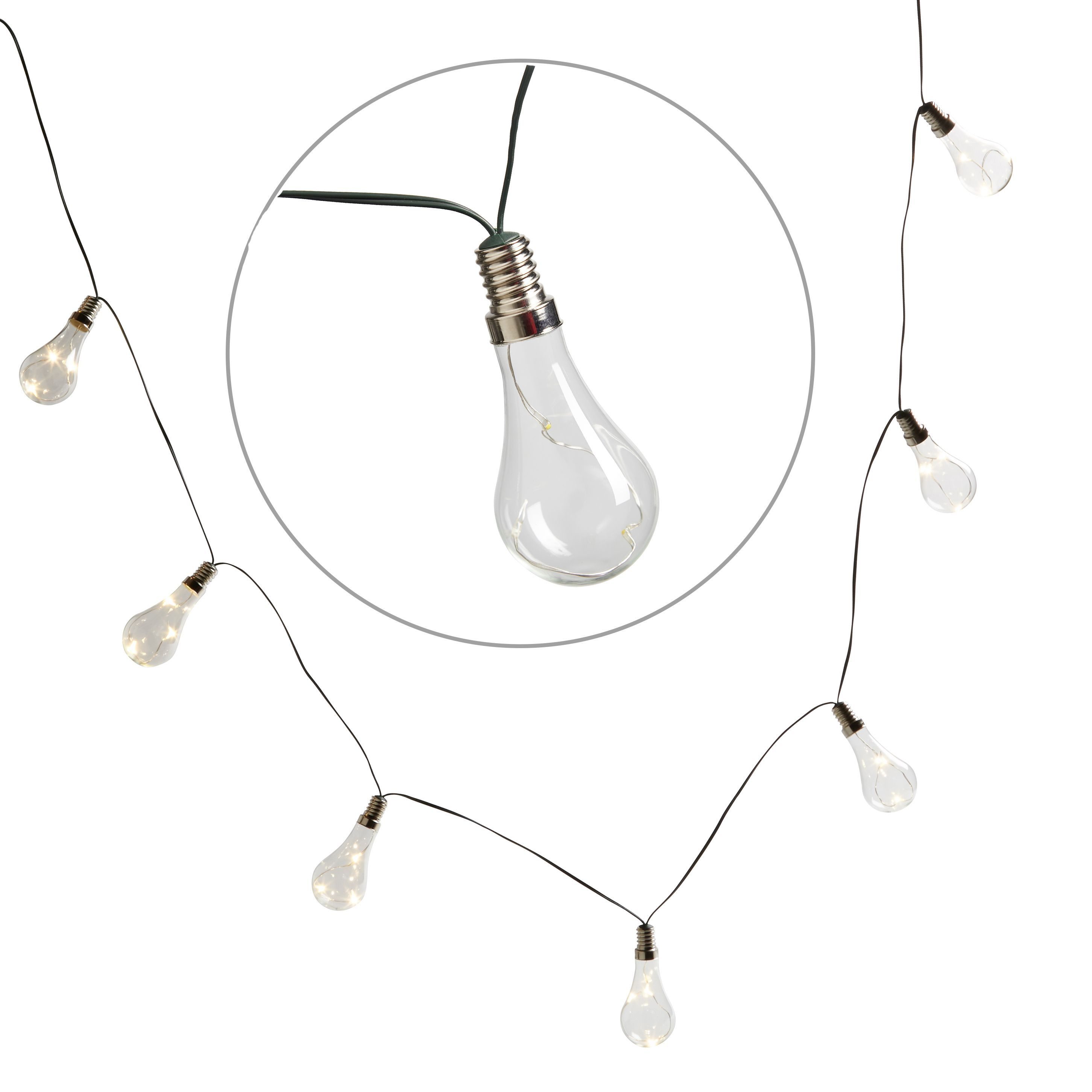 Blooma Gelanor Battery Powered White 10 Led String Lights