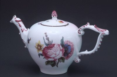 ca. 1745  Meissen manufactory, German   Hard paste porcelain, 3 in. (7.62 cm) Overall h.: 7 1/2 in. D., Spout-handle: 7 in.