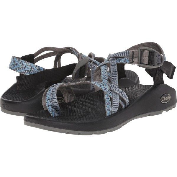 Chaco ZX/2 Classic (Directional) Women's Sandals ($63) ❤ liked on Polyvore featuring shoes, sandals, blue, arch support sandals, chaco footwear, toe ring sandals, toe loop sandals and platform shoes