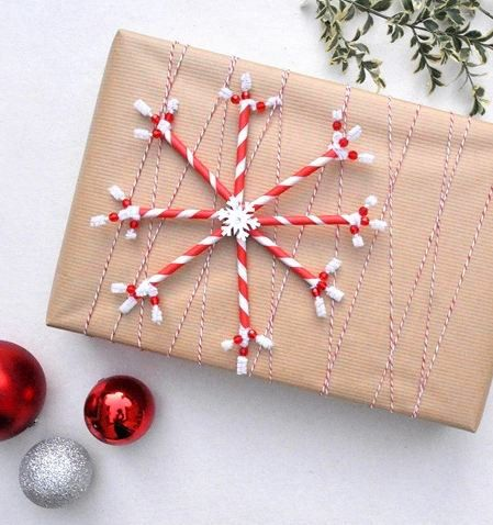 Holiday Decorating #DIY Projects: Paper Straw Snowflakes    Via @Better  Homes And