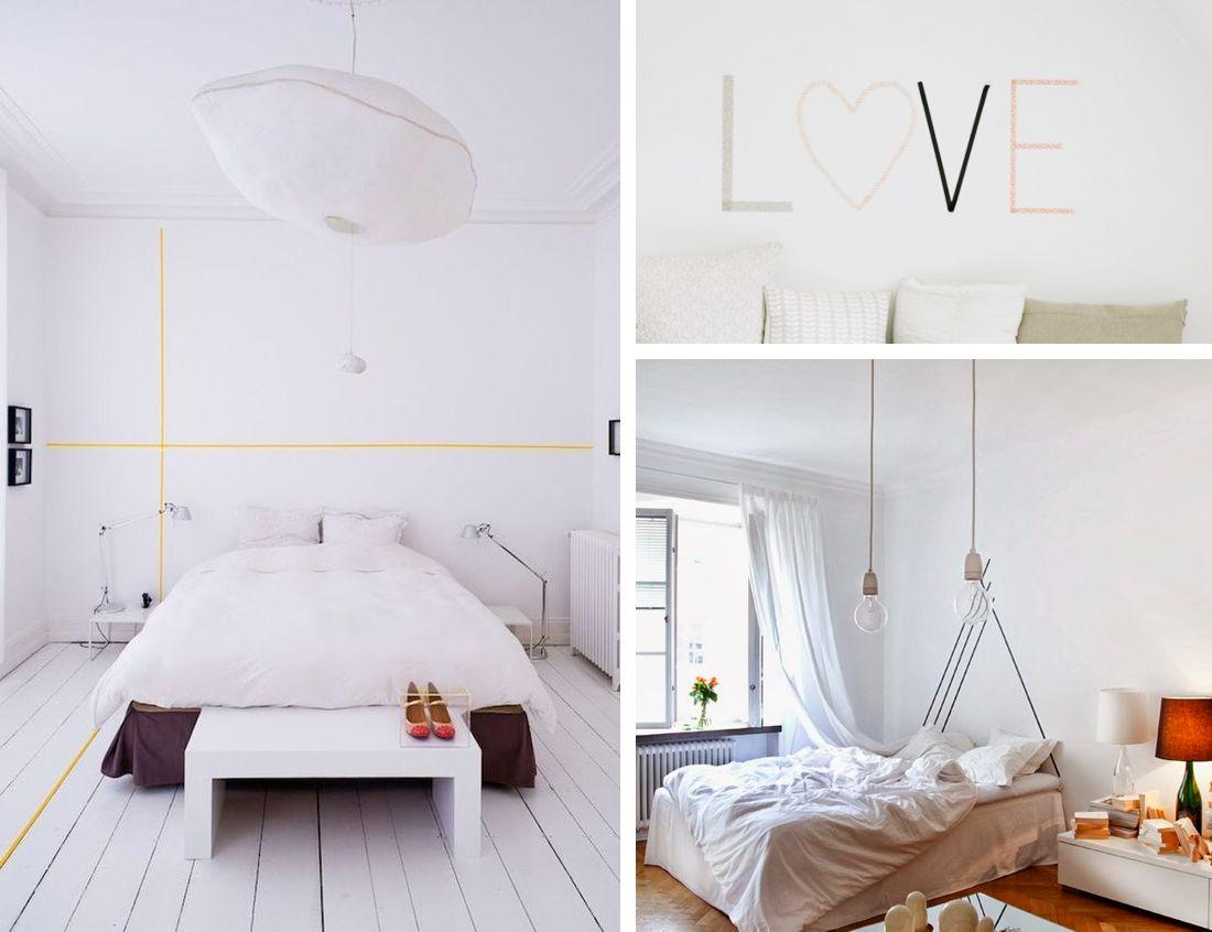 t te de lit do it yourself avec du masking tape tape art for home home art tape art et home. Black Bedroom Furniture Sets. Home Design Ideas