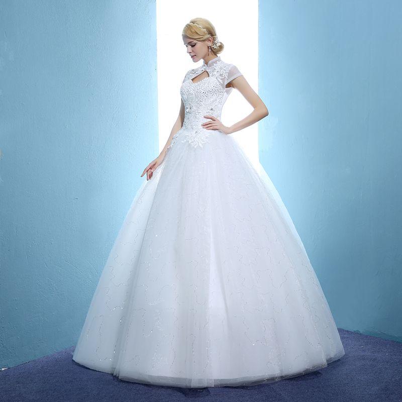 It\'s YiiYa 2017 White Lace Vintage High neck Vestidos De Novia ...