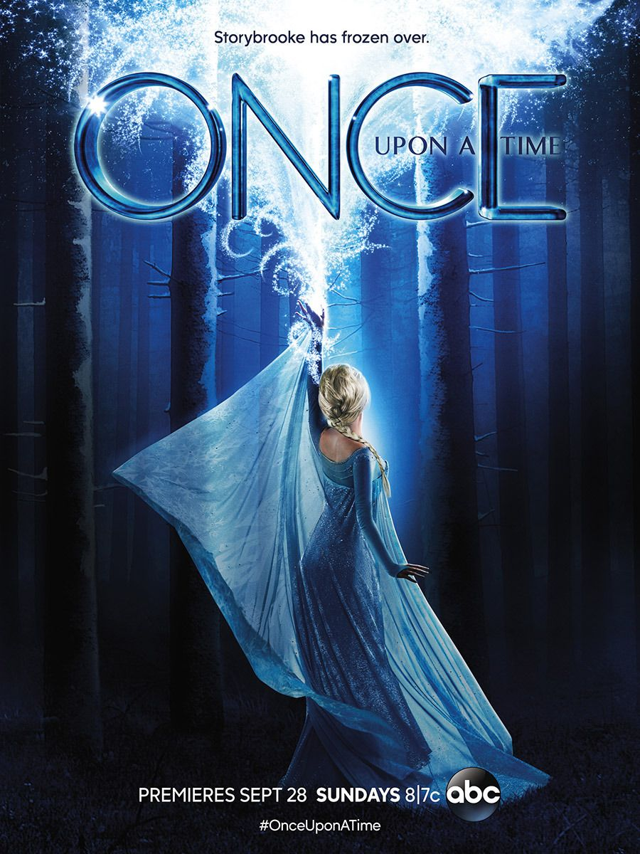Once Upon A Time Season 4 Poster Queen Elsa Is Letting It Go All