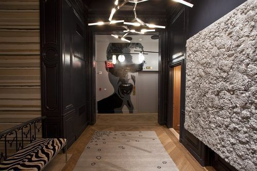 Inside the 2014 Kips Bay Decorator Show House - Showhouses - The second-floor hallway, titled by its designer Meyer Davis as Gallery of Curiousities: Bringing Brooklyn to Manhattan, comes with art by a Brooklyn graffiti artist and lighting fixtures by Brooklyn-based studio Roll and Hill.