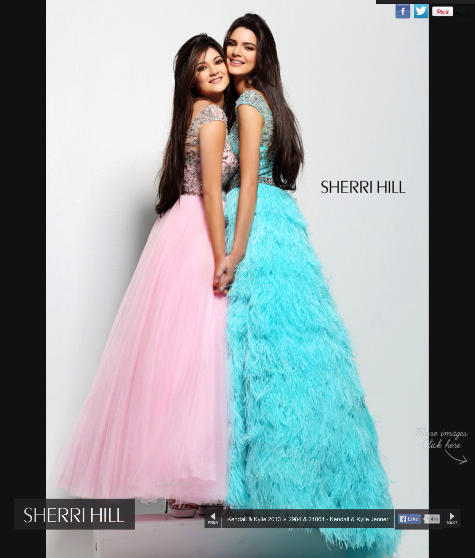 Kendall and Kylie in sherri hill | Dresses | Pinterest