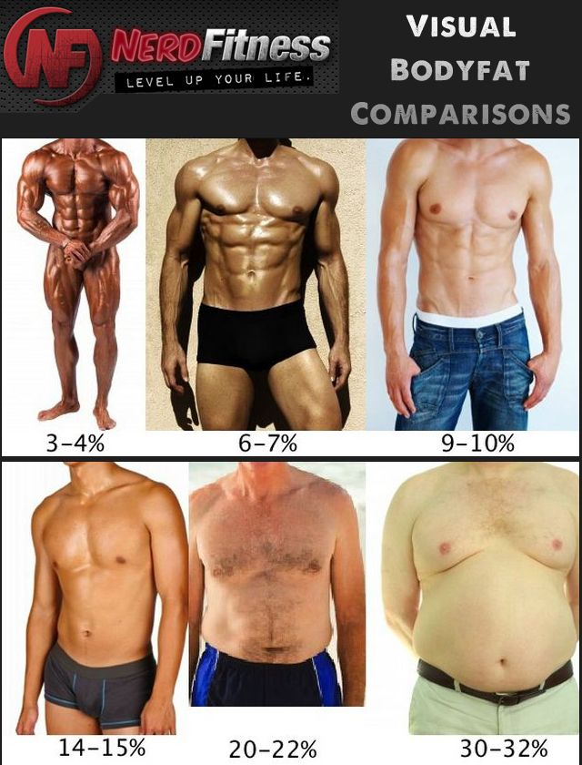 Visual bodyfat comparision also fitness for males  females rh pinterest