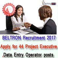 BELTRON Recruitment 2017 | Apply for 44 Project Executive, Data Entry Operator posts