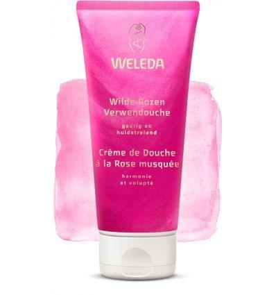 Weleda - Crème Bio | PURNATURAL | Crème Douche à la Rose musquée, à base lavante végétale respectant l'équilibre naturel de la peau. Rendez-vous sur notre site afin de bénéficier de nos offres !