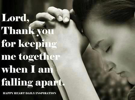 oh heck yes. Jesus is the only thing that keeps me together. He is the glue in my life. Every single day.
