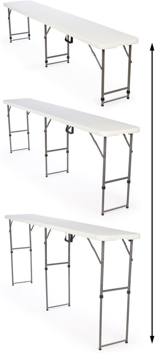 8 5 Folding Table Height Adjustable White With Images