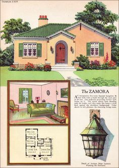 1927 Radford Zamora Spanish Eclectic Style Small House Design Inspiration Vintage America Colonial House Plans Vintage House Plans Spanish Colonial Homes