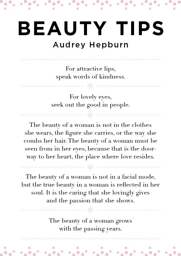 Dr. Jetske Ultee  Kerstkaarten  Beauty tips  Audrey Hepburn. audrey hepburn beauty tips