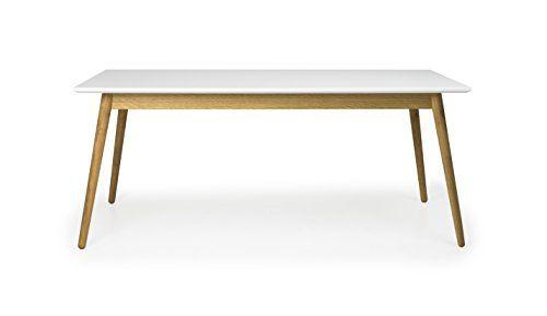 Tenzo 1680-001 Dot Designer Esstisch Holz, weiß \/ eiche, 90 x 180