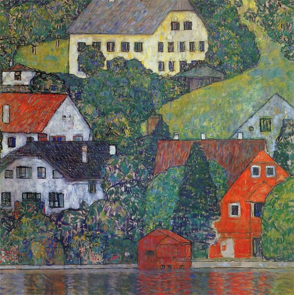 Klimt Houses At Unterach On Lake Attersee Klimt Attersee Bilder