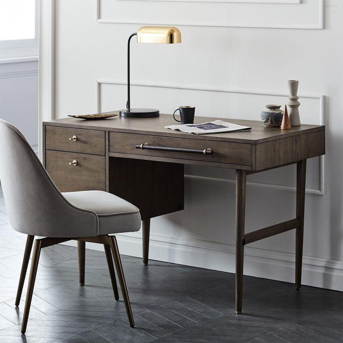 Mid Century Swivel Office Chair Velvet In 2020 Home Office