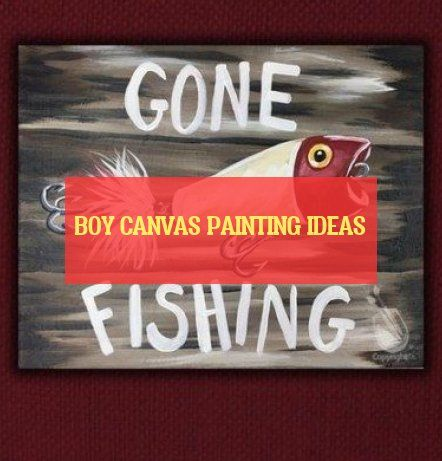 boy canvas painting ideas