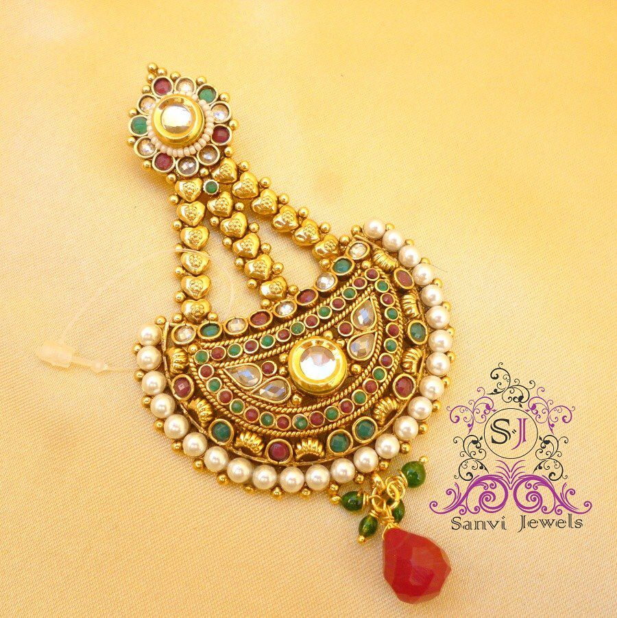 Peacock pendant set with kt gold plated back ekatrra