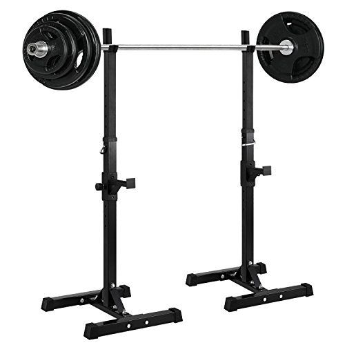 Ollieroo Barbell Rack 2PCS Gym Family Fitness Adjustable Squat Rack ...