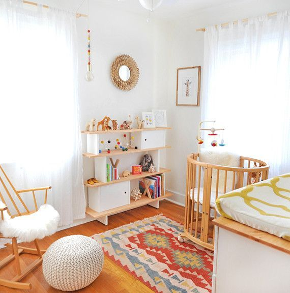Adorable MCM Nursery! We LOVE this with //Aurora Graphic's