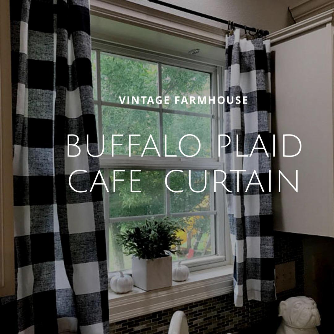 #blackandwhite Buffalo Plaid Cafe Curtains. #etsy #aff